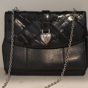 Brighton black leather crossbody/wallet